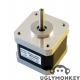 NEMA-17 42BYGHW609 1.7A 1.8'/step 200step/rev 40mm length