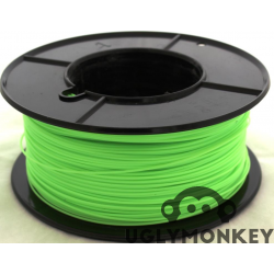 Lime Green Flexible TPU, This is a soft flexible 3d printing filament very similar to Ninjaflex.