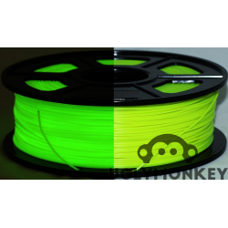 Glow in the Dark Yellow PLA 1kg, 1.75mm