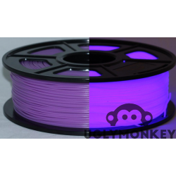 Glow in the Dark Purple PLA 1kg, 1.75mm