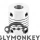 Flexible Aluminium Coupling (5mm/10mm)