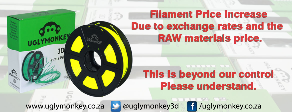PLA Filament cape town price increase